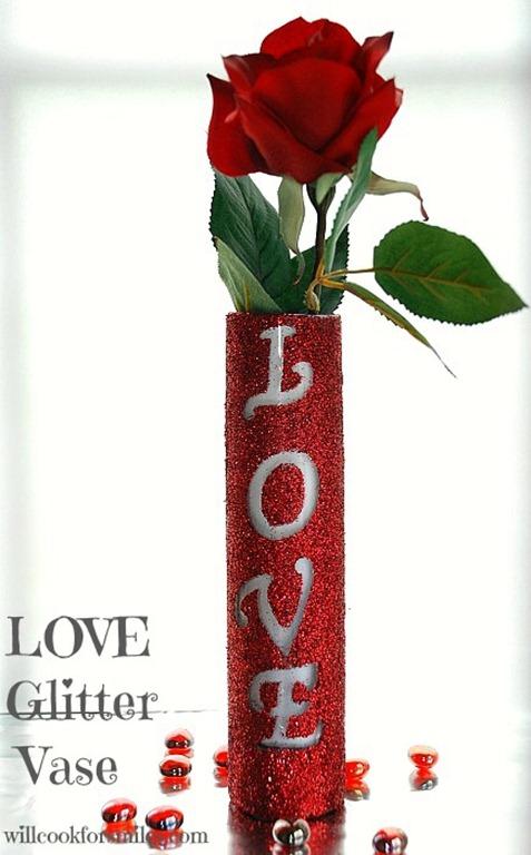 LOVE Glitter Vase 4 ed