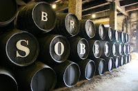 Barrels of sherry
