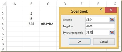 Goal Seek in Excel - Goal Seek Dialogue Box