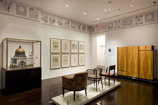 A gallery on the third floor dedicated to modern, twentieth-century architecture.