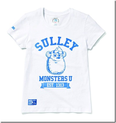 Monster University X Giordano - White Tee shirt  Women 02