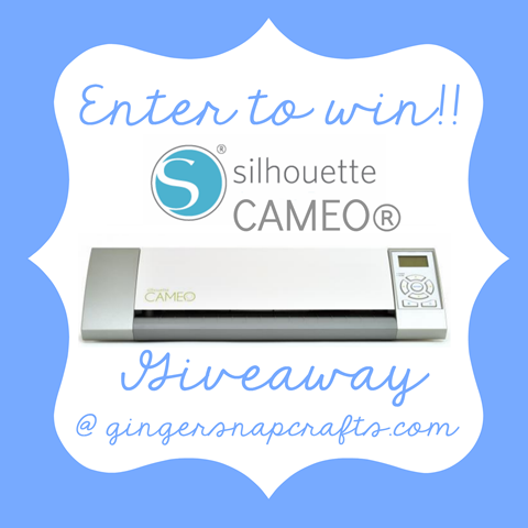 Enter to win a Silhouette CAMEO at GingerSnapCrafts.com #giveaway #SilhouetteCameo #spon