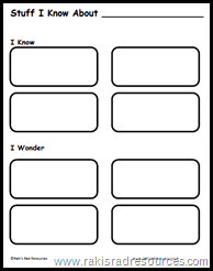 Stuff I Know Graphic Organizer - print for free