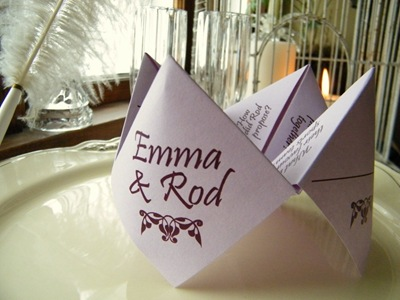 Cootie Catcher Place Card | Kats Krafts Etsy
