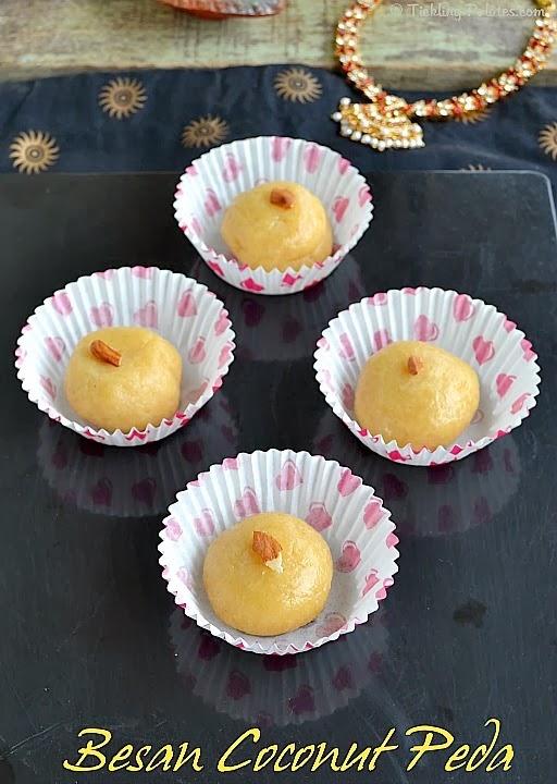 Besan Coconut Peda Recipe