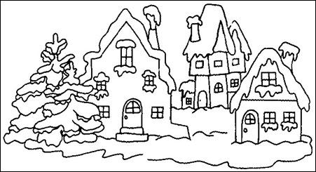 iarna-desene de colorat