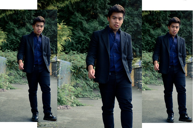 suit with jeans collage