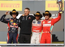 Vettel, Horner, Hamilton e Alonso ad Austin 2012