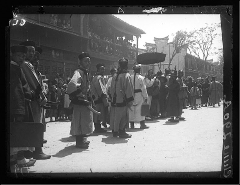 A procession in Shanghai