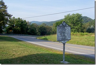Fort Upper Tract along U.S. Route 220 looking south on the highway