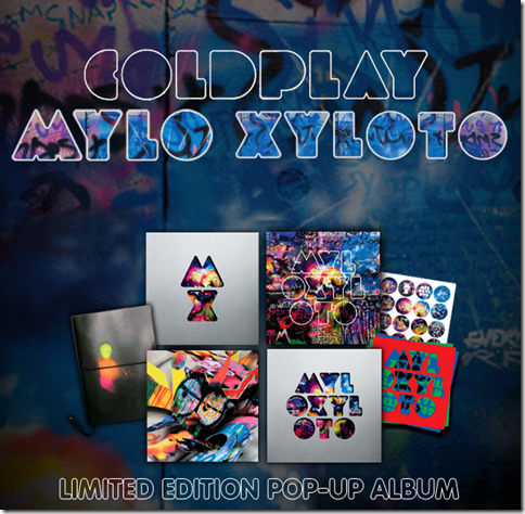 COLDPLAY - Mylo Xyloto - Limited Edition Pop Up Book-album