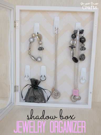 Ginger Snap Crafts DIY Shadow Box Jewelry Organizer with DecoArt