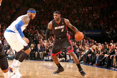 lebron james nba 140201 mia at nyk 08 LeBron Debuts Soldier 7 Shine PE as Heat Beat Knicks at MSG