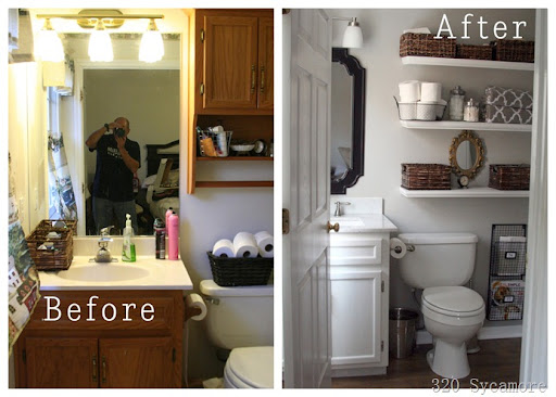 Beautiful One more time master bath before and after