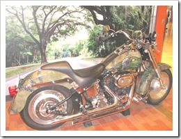 Florida vacation Harley taken at Harley store Orlando airport