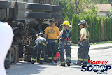 Overturned Truck On Paiken Drive In Spring Valley (Moshe Lichtenstein) - IMG_4492.JPG