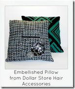 embellished pillow