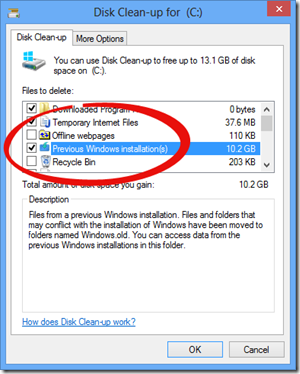 Windows 8 Disk Clean Up Utility
