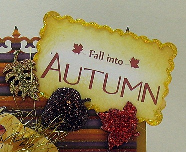 fall into autumn sentiment close up