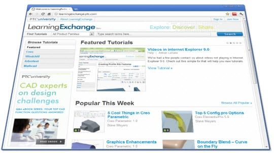 PTC-Learning-Exchange-Home-Page