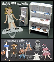 Modified Paper Dolls & Clothes