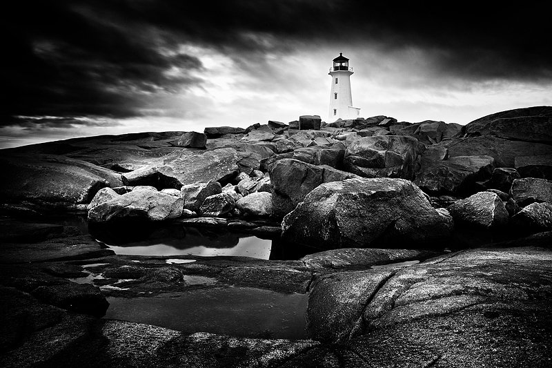 A classic on the East Coast. Peggy's Cove. One of the iconic scenes in Canada.