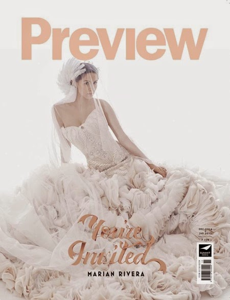 Marian Rivera for Preview mag Dec 2014-Jan 2015