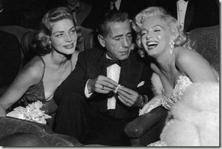 Bogart, Bacall y Monroe
