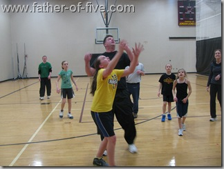 Dad vs Daughter Basetball