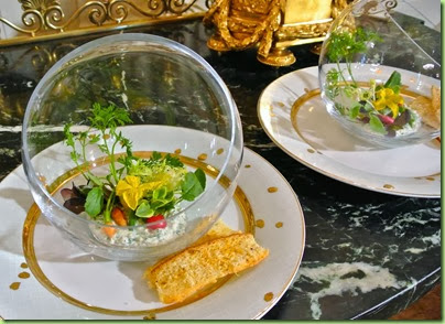 salad in a gold fish bowljpg