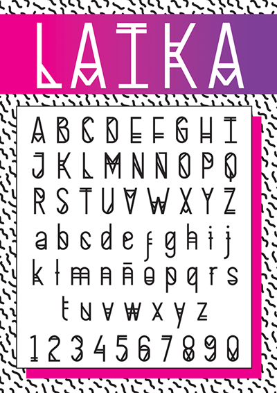 LAIKA-THE-SPACE-Font