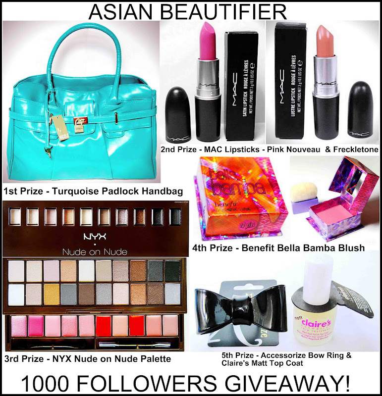 Asian Beautifier 1000 Followers Giveaway