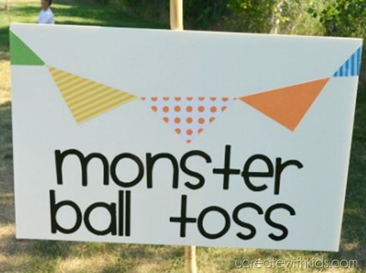 DIY Olympic Games Monster Ball Toss