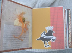 Halloween witching hour journal inside front cover crow