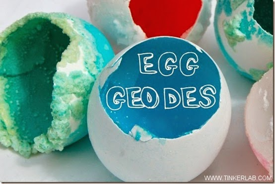 Egg Geode Experiment for kids #science #homeschooling