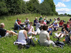 On sunny summer days, picnics are very popular as a lunch stop.
