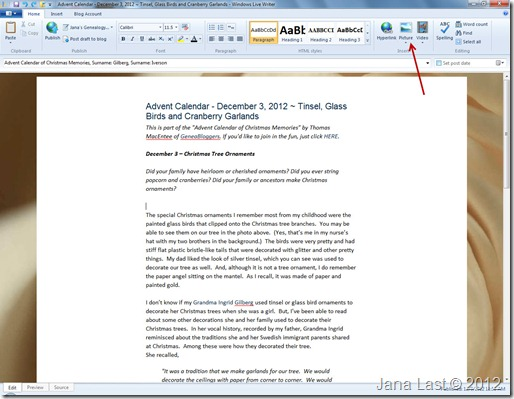 Windows Live Writer 6