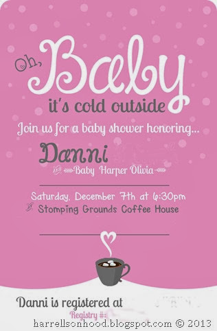 baby it's cold outside baby shower invite copy