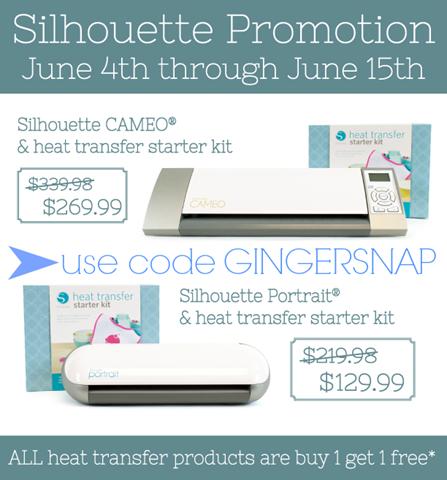 Silhouette June promotion