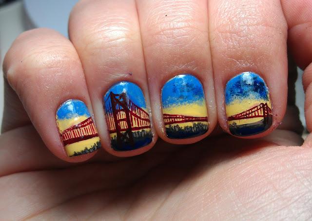 nailartinc: GOLDEN GATE BRIDGE/SAN FRANCISCO NAILART