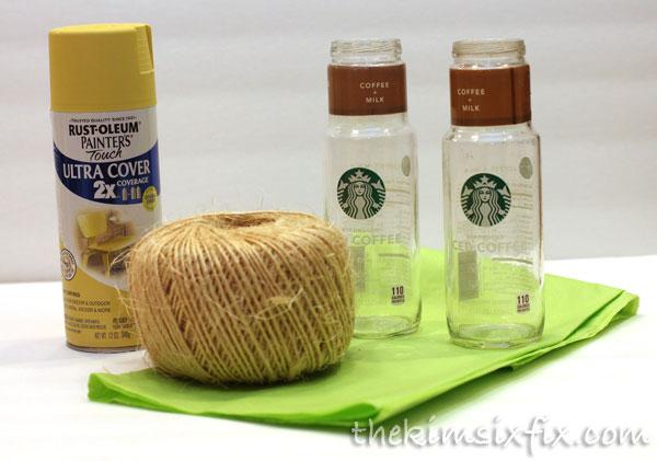 Starbucks bottle thanksgiving craft