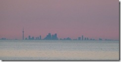 Toronto Skyline beyond Lake Ontario