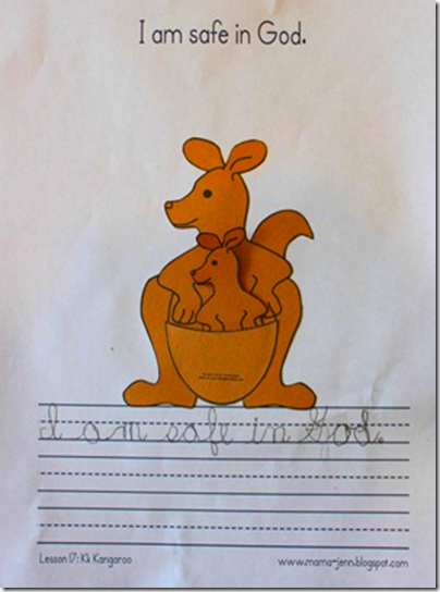 My Father's World Kindergarten Words to Remember: Kk for Kangaroo