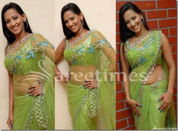 Sanjana_Singh_Green_Saree