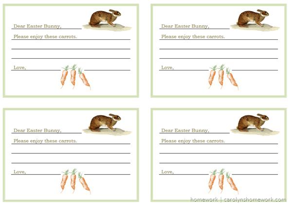 Dear Easter Bunny 4 Cards
