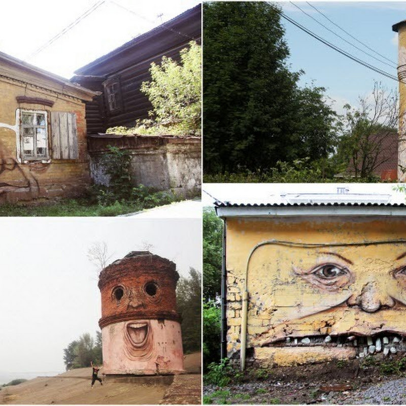 The Living Wall: Nikita Nomerz Adds Faces to Street Walls