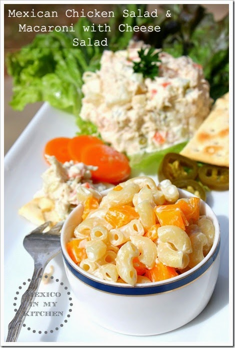 Chicken Salad | Mexican Chicken Salad with potatoes, carrots and peas.