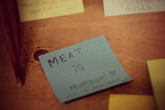 MEAT IS MURDER POST IT NOTE