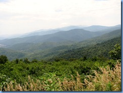 1230 Virginia - Shenandoah National Park - Skyline Drive - Range View Overlook view
