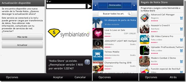 Actualizacin v1.22 de la Tienda Nokia para Symbian S60v5